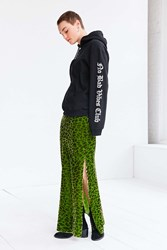 Silence And Noise Jackie Velvet Leopard Maxi Skirt Green