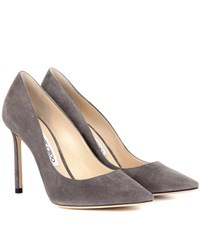 Jimmy Choo Exclusive To Mytheresa.Com Romy 100 Suede Pumps Grey