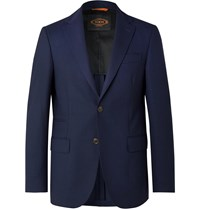 Tod's Navy Slim Fit Wool Blazer Blue