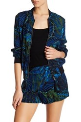 Jolt Printed Bomber Jacket Blue