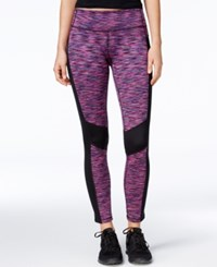 Ideology Space Dyed Fleece Leggings Only At Macy's Holiday Multi