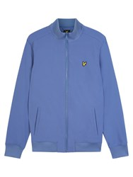 Lyle And Scott Zip Through Soft Shell Jacket Storm Blue