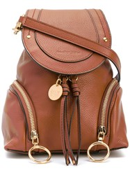 See By Chloe 'Polly' Backpack Women Cotton Leather One Size Brown