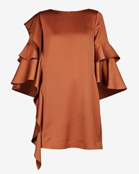 Ted Baker Eicio Frill Detail Tunic Brown