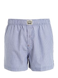 Levi's Underwear 2 Pack Striped And Chambray Cotton Boxers