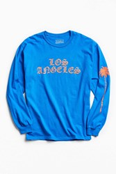 Urban Outfitters Los Angeles Palm Tree Long Sleeve Tee Blue