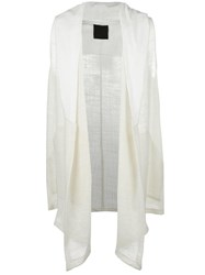 Lost And Found Ria Dunn Sleeveless Open Cardigan White