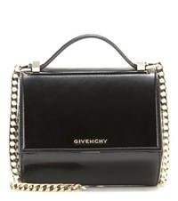 Givenchy Pandora Box Chain Patent Leather Shoulder Bag Black