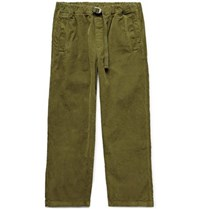Albam Tapered Garment Dyed Cotton Corduroy Trousers Army Green