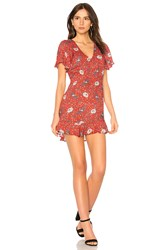 Auguste Valentina Fiesta Mini Dress Red