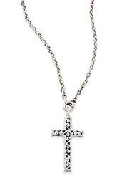 Lois Hill Sterling Silver Cross Pendant Necklace