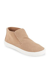 Dolce Vita Xai Perforated Suede Sneakers Beige Suede