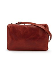 Marsell Logo Embossed Small Shoulder Bag Red