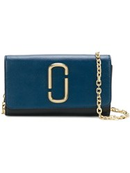 Marc Jacobs Snapshot Chain Wallet Blue