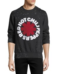 Eleven Paris Red Hot Chili Peppers Sweatshirt Acid Wash Black