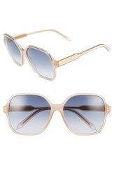 Victoria Beckham Women's Iconic Square 59Mm Sunglasses Milky Taupe Navy Milky Taupe Navy