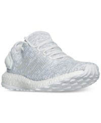 Adidas Men's Pure Boost Running Sneakers From Finish Line White White Crystal White