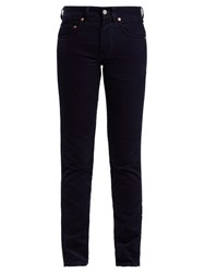 Holiday Slim Fit Cotton Corduroy Trousers Navy