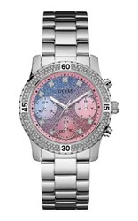 Guess W0774l1 Ladies Sports Watch Silver