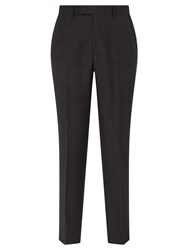 Chester Barrie By Semi Milled Wool Cashmere Tailored Suit Trousers Charcoal