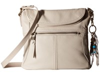 The Sak Esperato Flap Crossbody Stone Cross Body Handbags White