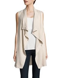 Bb Dakota Flyaway Pocketed Vest Beige