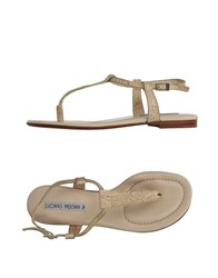 Luciano Padovan Toe Strap Sandals Beige