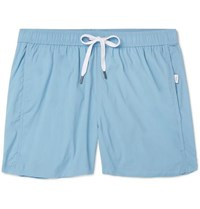 Onia Mid Length Swim Shorts Light Blue