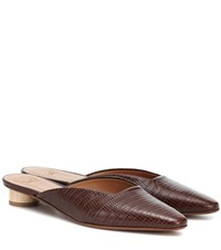 Loq Carmen Leather Mules Brown