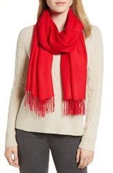 Nordstrom Tissue Weight Wool And Cashmere Scarf Red Chinoise