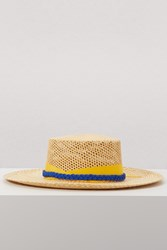 Sensi Studio Straw Hat With Ribbon Beige Trinado
