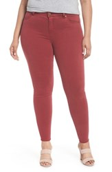 Liverpool Plus Size Women's Jeans Company Abby Skinny Jeans Biking Red