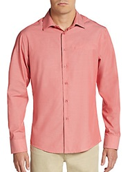 Vince Camuto Regular Fit Mock Pocket Sportshirt Slate Red