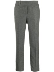 Ermanno Scervino Belted Straight Leg Trousers Grey