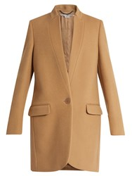 Stella Mccartney Bryce Wool Blend Jacket Camel