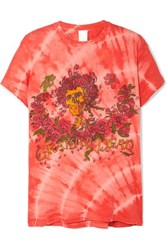Madeworn Grateful Dead Distressed Printed Cotton Jersey T Shirt Red