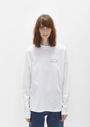 Martine Rose Long Sleeve Classic Tee White W Red