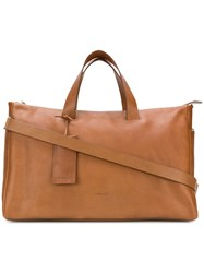Marsell Monouso Tote Leather Brown
