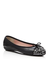 Paul Mayer Brill Brighton Studded Ballet Flats Black Platinum