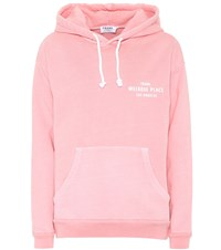Frame Cotton Hoodie Pink