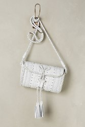 Anthropologie Ailie Mini Crossbody Bag White