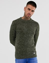Brave Soul Textured Marl Knitted Jumper Brown