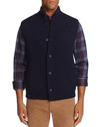 Bloomingdale's The Men's Store At Cashmere Diamond Quilted Sweater Vest Navy Blue