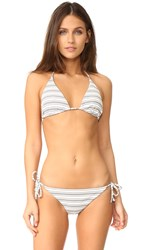 Shoshanna Clean Triangle Bikini Top Jet Ivory