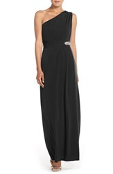 Women's Ellen Tracy Embellished Jersey Fit And Flare Gown Black