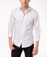 Inc International Concepts Men's Studded Collar Cotton Shirt Only At Macy's White