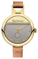 Women's Barbour 'Heritage' Leather Strap Watch 30Mm