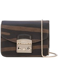 Furla Panel Crossbody Bag Women Leather One Size Brown