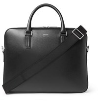 Hugo Boss Cross Grain Leather Briefcase Black
