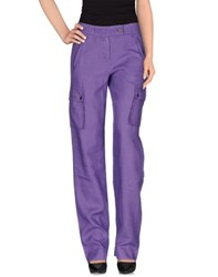 Angelo Marani Trousers Casual Trousers Women Purple